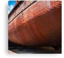 Rusting Hulk at Gloucester Docks, England Canvas Print