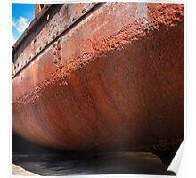 Rusting Hulk at Gloucester Docks, England Poster