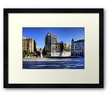 Plaza de Zorrilla Framed Print