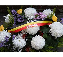 Bruges Floral Tribute Photographic Print