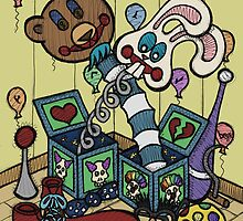 Teddy Bear And Bunny - Jacks In The Box by Brett Gilbert