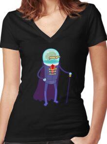 Robo Movember Women's Fitted V-Neck T-Shirt