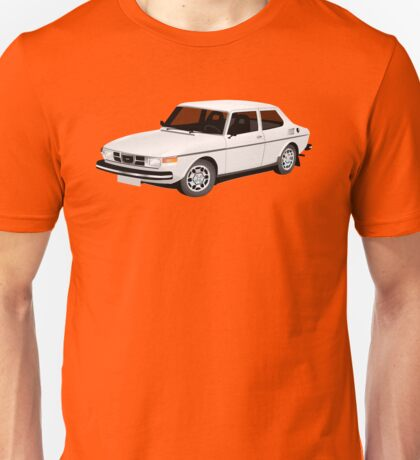 Saab 99 illustration white Unisex T-Shirt