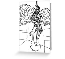Leopard slug, coloring book page Greeting Card