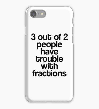 Fractions iPhone Case/Skin