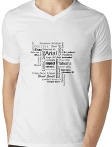 Font Love Mens V-Neck T-Shirt