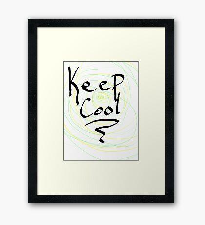 keep cool Framed Print