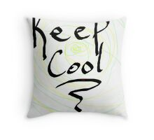 keep cool Throw Pillow