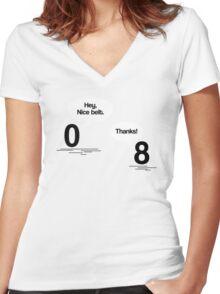 Maths - Hey, Nice Belt Women's Fitted V-Neck T-Shirt
