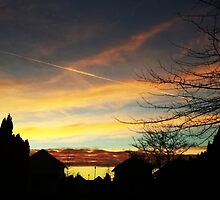 Sunset over Suburbia by darkesknight
