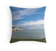 Seven Sisters from Seaford Head Throw Pillow