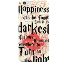 the marauders map harry  iPhone Case/Skin