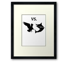 eagle vs shark  Framed Print