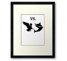 eagle vs shark  Framed Print
