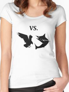 eagle vs shark  Women's Fitted Scoop T-Shirt