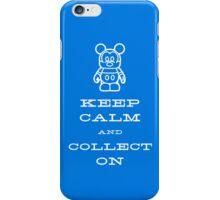 Keep Calm and Vinyl On Blue Phone iPhone Case/Skin