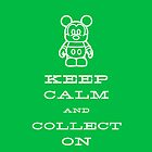 Keep Calm and Vinyl On Green Phone by stitzerb