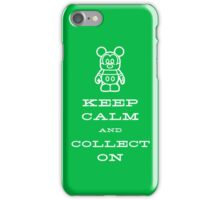 Keep Calm and Vinyl On Green Phone iPhone Case/Skin