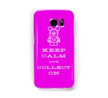 Keep Calm and Vinyl On Pink Phone Samsung Galaxy Case/Skin