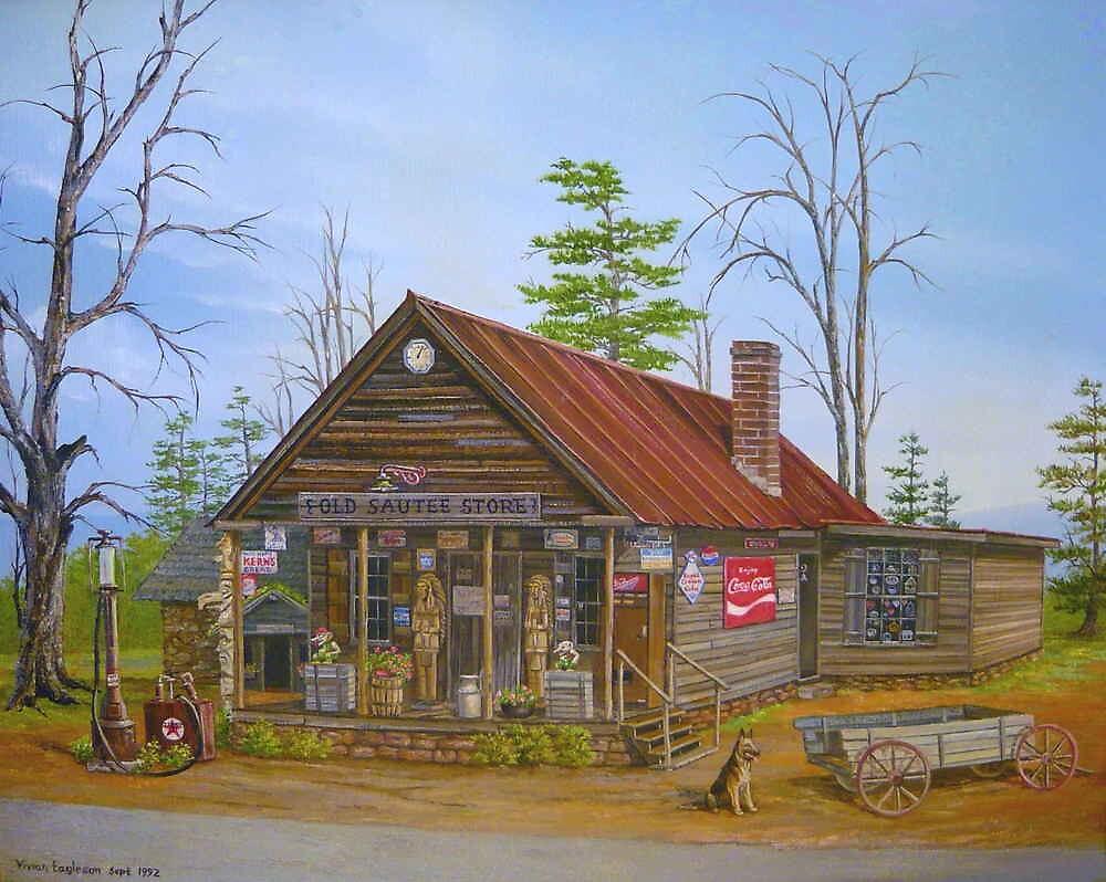 Old Sautee Store, Georgia by Vivian Eagleson