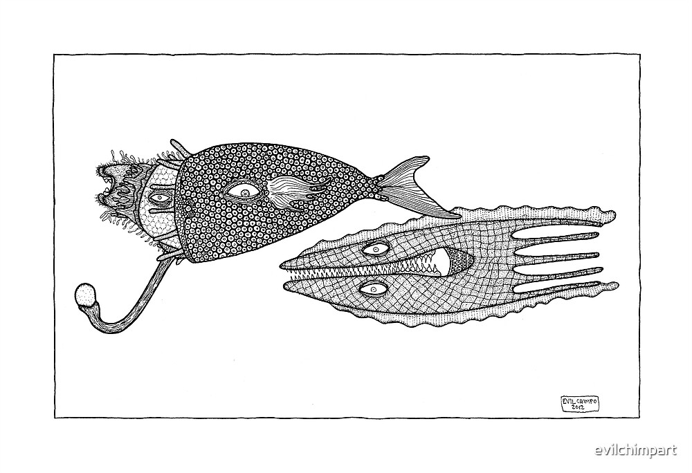 Invented Fish Number 44 by evil chimpo