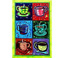'SIX COFFEE CUPS' Photographic Print