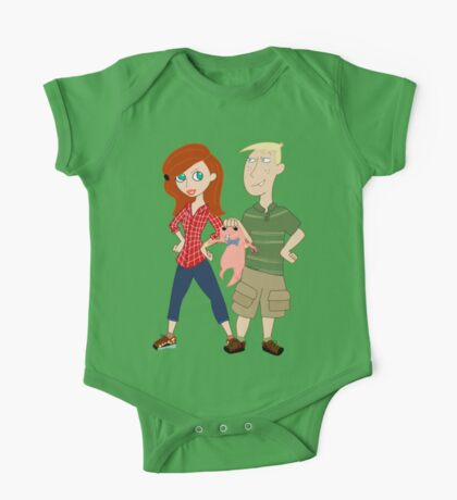 Amy Possible + Rory Stoppable  One Piece - Short Sleeve