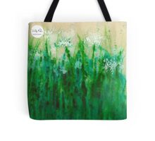 Little Garden White Flowers Tote Tote Bag