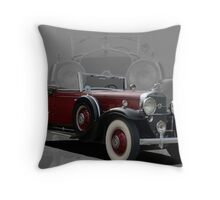 1931 Cadillac Roadster V12 Throw Pillow