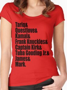 The Legendary Roots Crew  Women's Fitted Scoop T-Shirt