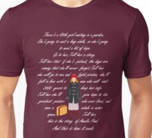 There is a little girl waiting in a garden ( pale) Unisex T-Shirt