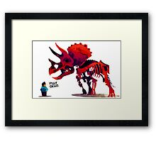 Play Dead Pet Dinosaur Framed Print