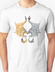 Heaven and Earth - Silver Rathalos x Gold Rathian Unisex T-Shirt