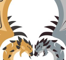 Heaven and Earth - Silver Rathalos x Gold Rathian Sticker
