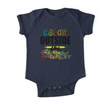 Color Outside The Lines One Piece - Short Sleeve