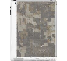 USGS Topo Map Washington State WA Barnes Butte 20110425 TM iPad Case/Skin