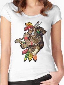 Chicago Blackhawks  Women's Fitted Scoop T-Shirt