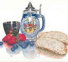 Beer, Bread & Berries by Karen  Hull