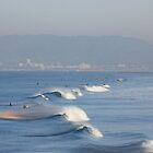 Manhattan Beach Waves 2 by Tedd Wenrick