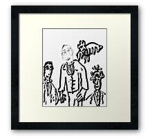 THE MAN WHO WASN'T REALLY THERE Framed Print
