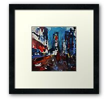 Times Square by Night Framed Print