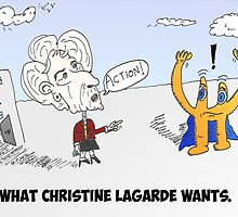 Euroman and Christine Lagarde caricature by Binary-Options