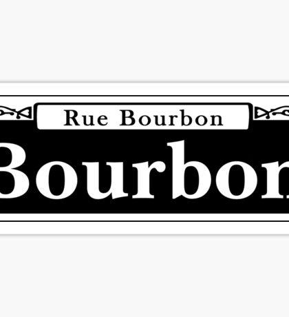 Bourbon St., New Orleans Street Sign Sticker