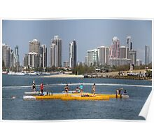 Pontoon on the Broadwater Poster
