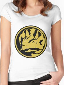 Triceratops Coin Women's Fitted Scoop T-Shirt