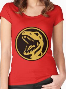 Tyrannosaurs Coin  Women's Fitted Scoop T-Shirt