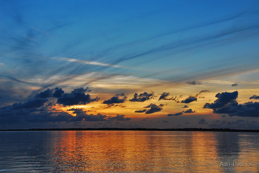 Sunset over the Eastern Scheldt by Adri  Padmos