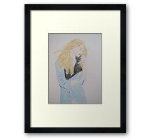 Loving Her Blue Coat Framed Print