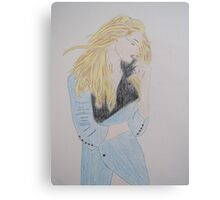 Loving Her Blue Coat Canvas Print