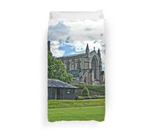 Bowling at Hexham Abbey Duvet Cover